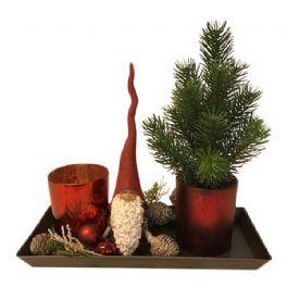 salg af Juledekoration ,rød - 13*25 cm. - kunstige juledekorationer