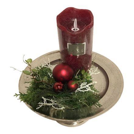 salg af Rød juledekoration, 25*30 cm. - kunstige juledekorationer