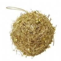 salg af Guld julekugle, Ø30 cm.