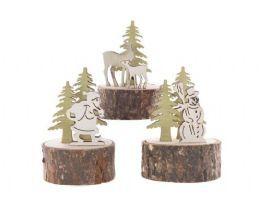 salg af Julenisse på træstub, 9 cm.