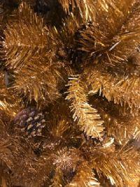 Juletræ - guld - 190 cm.