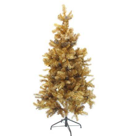 salg af Juletræ guld 190 cm. m/kogler