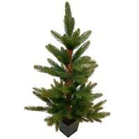 salg af Kunstig juletræ i potte - 70 cm - også velegnet udendørs