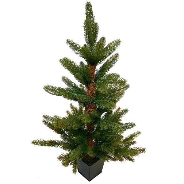 Juletræ i potte 70 cm - også velegnet udendørs - Kunstigt Juletræ, PE, naturtro
