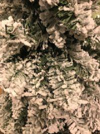 Juletræ med sne 150 cm