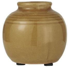 salg af Karry farvet vase, keramik - 8*8 cm.