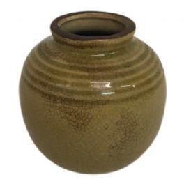 salg af Grøn/brun vase, Keramik - Ø 8*8 cm.