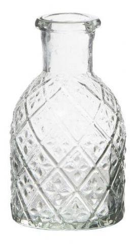 salg af Klar glasvase, m/struktur - 11 cm.