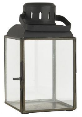 salg af Lanterne, sort jern - H19 cm.