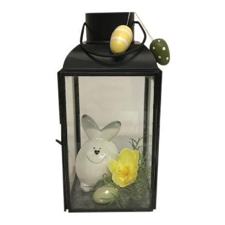 salg af Lanterne m/påskepynt - H22 cm. - kunstige blomster