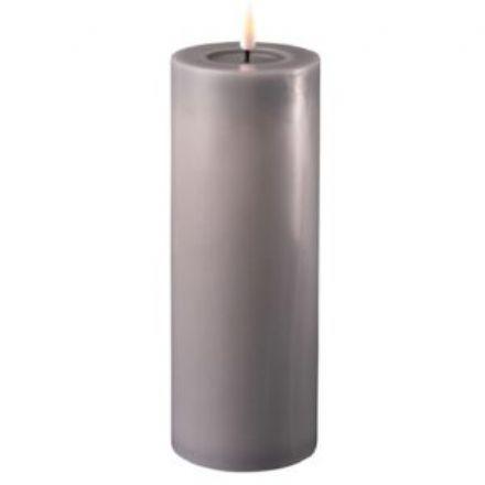 salg af Grå LED Bloklys 7,5*20 cm. - kunstige stearinlys