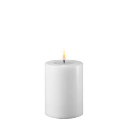salg af Hvid LED bloklys, 5*10 cm. - kunstige stearinlys