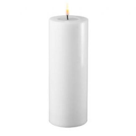 salg af Hvid LED bloklys, 7,5*20 cm. - kunstige stearinlys