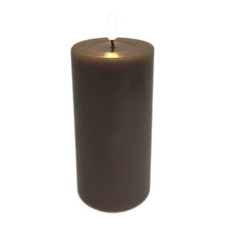 salg af Mokka LED Bloklys 7,5*15 cm. - kunstige stearinlys