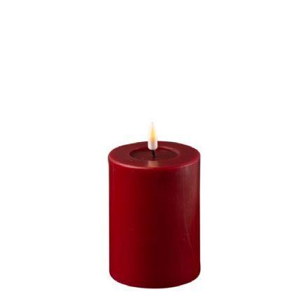 salg af LED bloklys, real flame - varm rød - 7,5*10 cm. - kunstige stearinlys