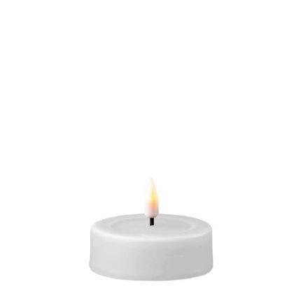 salg af LED fyrfadslys, stor - real flame - hvid 2 stk. - kunstige stearinlys