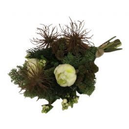 salg af Liggebuket, 25*35 cm. - kunstige blomster