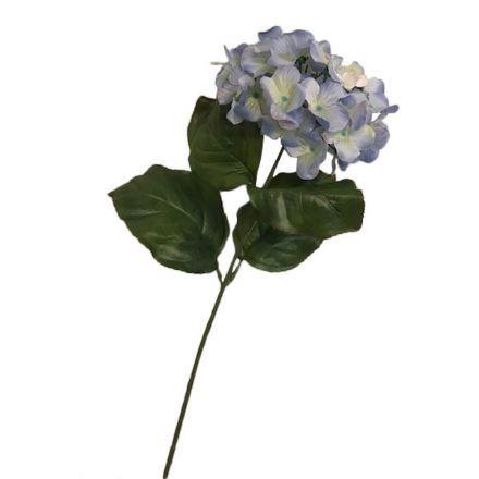 salg af Lys blå hortensia, 80 cm. - kunstige blomster