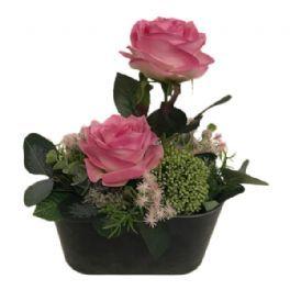 salg af Lyserød dekoration, H28 cm. - kunstige blomster