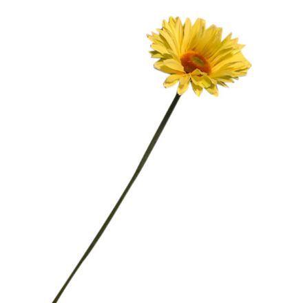 salg af Lysegul gerbera, 50 cm. - kunstige blomster