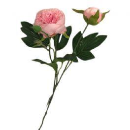 salg af Lyserød bonderose, 55 cm. - kunstige blomster