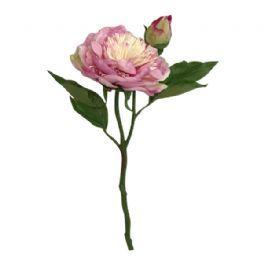 salg af Lyserød bonderose m/knop - 35 cm. - kunstige blomster
