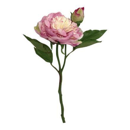 salg af Lyserød bonderose m/knop, 35 cm. - kunstige blomster