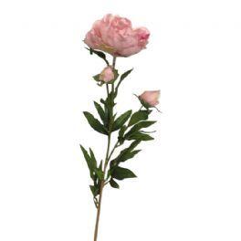 salg af Lyserød pæon - 75 cm. - kunstige blomster