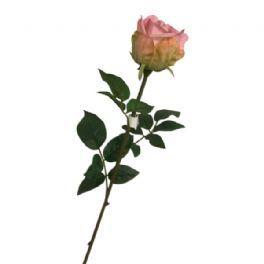 salg af Lyserød rose - 65 cm. - kunstige blomster
