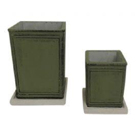 salg af Mat grøn skjuler m/underskål - Ø6*H9 cm.