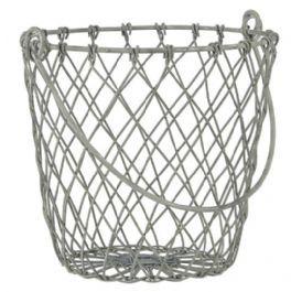 salg af Metal trådkurv, grå - 8*12,5 cm.