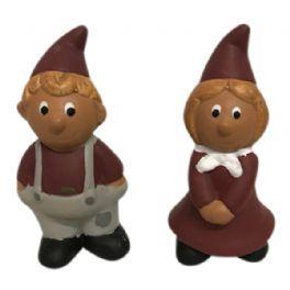 salg af Mini nisser, rød/brun - 7 cm.
