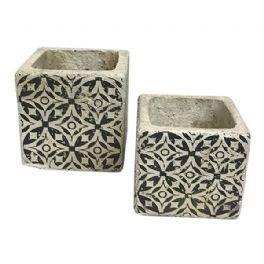 salg af Mørk grå skjuler m/mønster - Ø8,5*H7 cm.