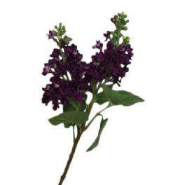 salg af Mørk lilla syren, 70 cm. - kunstige blomster