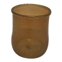salg af Mørkebrun glasvase, 7 cm.