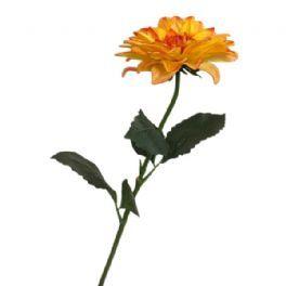 salg af Orange dahlia - 65 cm. - kunstige blomster