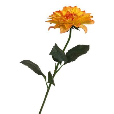salg af Orange dahlia, 65 cm. - kunstige blomster