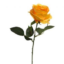 salg af Orange/gul rose - 45 cm. - kunstige blomster