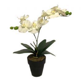 salg af Hvid orkide, 35 cm. - kunstige blomster