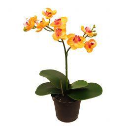 salg af Orkide - 24 cm. - gul - kunstig plante
