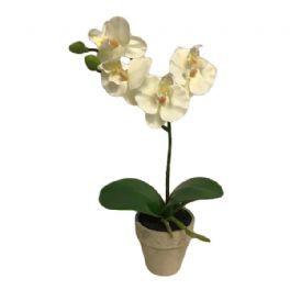 salg af Hvid orkide, 31 cm. - kunstige blomster