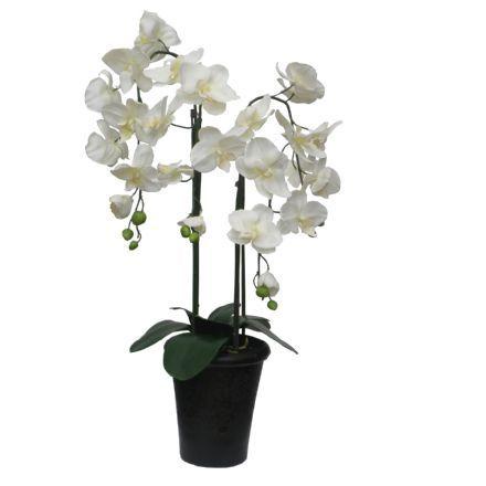 salg af Hvid Orkide, 68 cm. - kunstige blomster