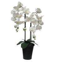 salg af Orkide, hvid, 4 grenet 68 cm. - kunstig plante