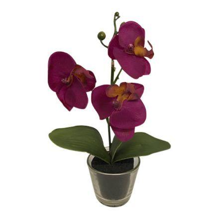 salg af Lilla Orkide, 25 cm. - kunstige blomster
