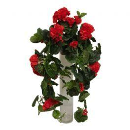 salg af Rød Pelargonia hængebusk, 60 cm. - kunstige blomster