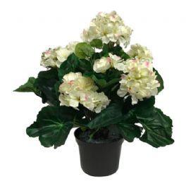 salg af Pelargonie, creme/lyserød - 37 cm. - kunstige blomster