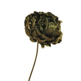 salg af Peon, grøn med guld glimmer - højde 28 cm.