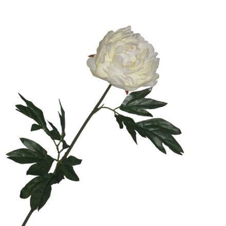 salg af Pæon 73 cm, creme hvid - kunstige blomster