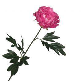 salg af Pink pæon 75 cm. - kunstige blomster