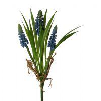 salg af Perle Hyacint i bundt, blå,  22 cm. - kunstige blomster